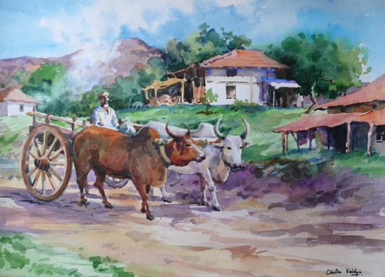 our beautiful indian village (paintings) - It's my world ...Beautiful Indian Village Paintings